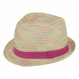 Chapeau enfant paille rose t.52 - 50