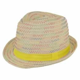 Chapeau enfant paille jaune t.52 - 50