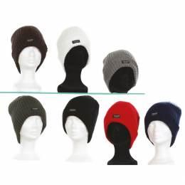 Bonnet 100% acryl doublé thinsu t.u lot de 3 ass - 50