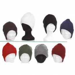Bonnet mixte 100% acryl t.u - lot de 3 assortis - 50