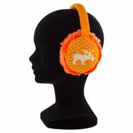 "Cache-oreilles ""rennes"" enf. +imit.fourrure orange - 50"