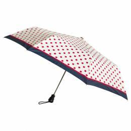 Parapluie pliant auto pois blanc - 50