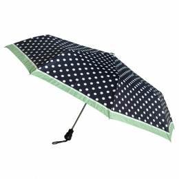 Parapluie pliant auto pois marine - 50