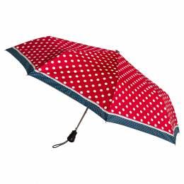 Parapluie pliant auto pois rouge - 50