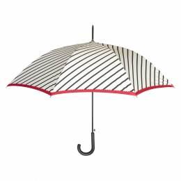 Parapluie canne auto rayures blanc - 50
