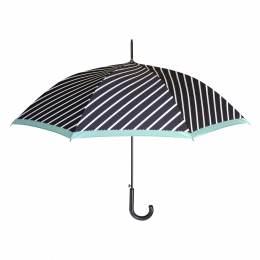 Parapluie canne auto rayures marine - 50