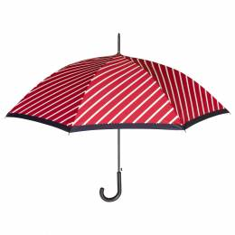 Parapluie canne auto rayures rouge - 50