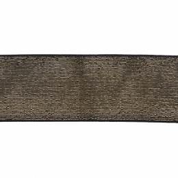 Élastique lurex noir doré 40 mm - 53