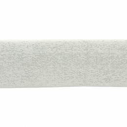 Élastique lurex blanc argent 40 mm - 53