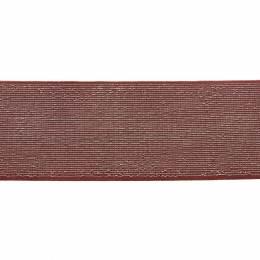Élastique lurex brique argent 40 mm - 53