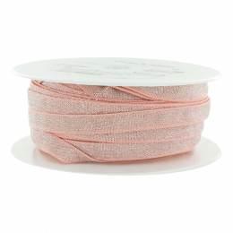 Élastique lurex rose argenté 10 mm - 53