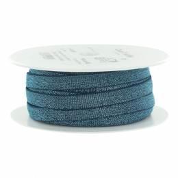 Élastique lurex bleu jeans argenté 10 mm - 53