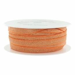 Élastique lurex orange argenté 10 mm - 53
