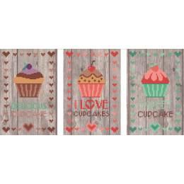 3 tableautins cupcakes lot 1 - 55