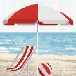 tableautin bord de mer rouge - 55