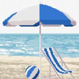 tableautin bord de mer bleu - 55