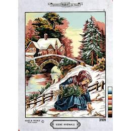 Canevas 36/47 scène hivernale - 55