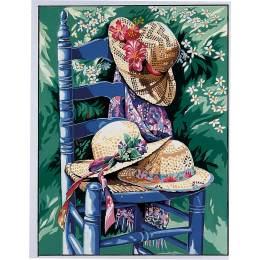 Canevas 36/47 chaise aux chapeaux - 55