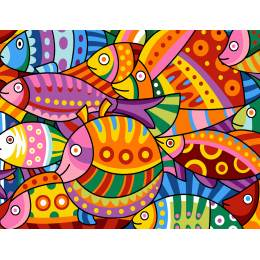 Colored fishes - 55