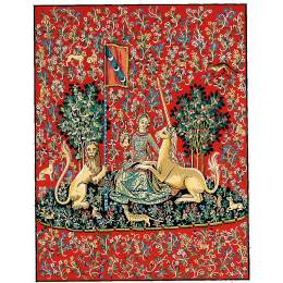 Canevas 51/66 dame … la licorne - 55