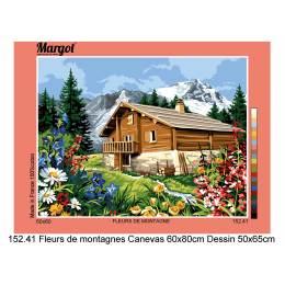 Canevas 50/65 antique fleurs de montagne - 55