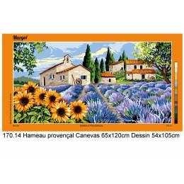 Canevas 65/120 antique hameau provençal - 55
