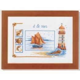 A la mer kit marie coeur toile nattée 30/40 - 55
