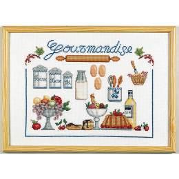 La gourmandise kit marie coeur toile nattée 30/40 - 55