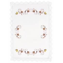 Nappe coton blanc ronde 90 cm sans dentelle - 55