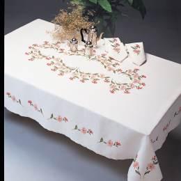 Nappe coton blanc ronde 120 cm sans dentelle - 55