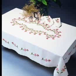 Nappe carrée coton blanc 140/140 sans dentelle - 55