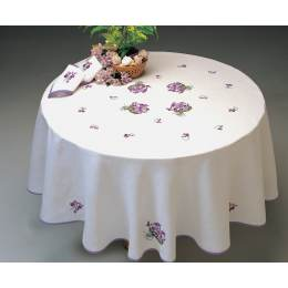 Nappe rectangle coton blanc 140/200 sans dentelle - 55