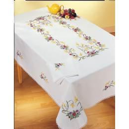 Serviette 30/30 coton blanc sans dentelle - 55