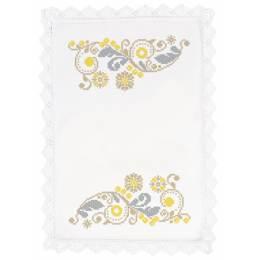 Serviette 46/46 coton blanc sans dentelle - 55