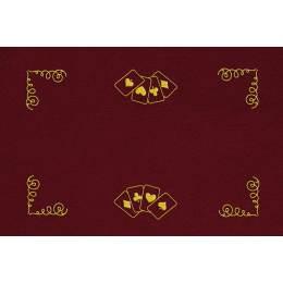 Kit tapis de belote rouge - 55