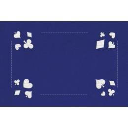 Kit tapis de belote bleu - 55