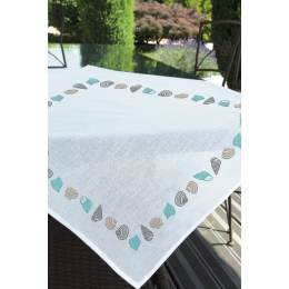 Surnappe toile seule 80 x 80 coquillage - 55