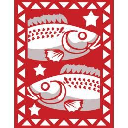 Poisson rouge et blanc - 55