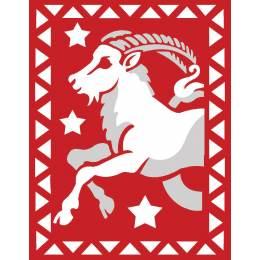 Capricorne rouge et blanc - 55