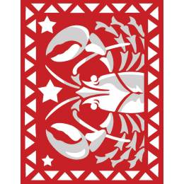 Scorpion rouge et blanc - 55