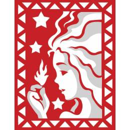 Vierge rouge et blanc - 55