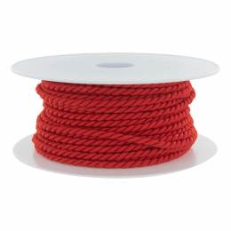 Cordon polyester Ø 3,5mm rouge - 56