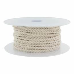 Cordon polyester Ø 3,5mm nacre - 56
