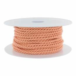 Cordon polyester Ø 3,5mm saumon - 56
