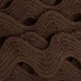 Serpentine coton marron