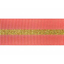 Gros grain silky rayures dorées 15mm - 58
