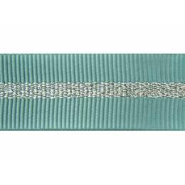 Gros grain silky rayures argentées 15mm - 58