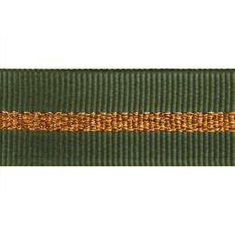 Gros grain silky rayures cuivrées 15mm - 58