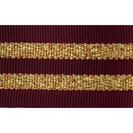 Gros grain silky rayures dorées 25mm - 58