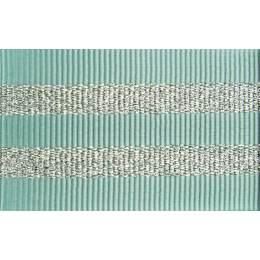 Gros grain silky rayures argentées 25mm - 58